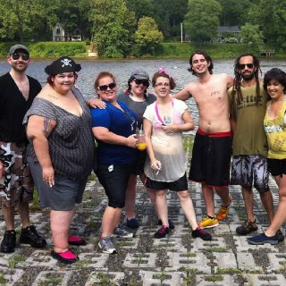 At the end of out Delaware river tubing trip