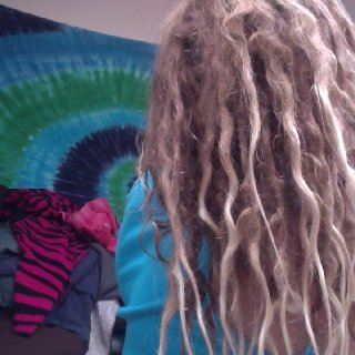 Thicker towards the roots thinner towards the ends; also the dreads shrank probably why theres thinner ends..?