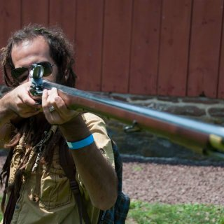 My wife and I follow a Revolutionary War reenactor unit. I'm checking out how it felt to hold a real musket