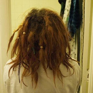 Didn't realize how crazy the back of my hair was D: