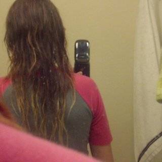 Partially wet, 3.5 month old dreads .u.