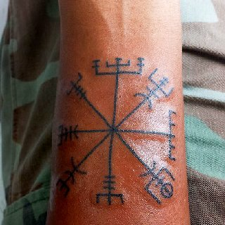 """my new tattoo, meaning """"guidepost"""" or """"direction sign"""""""