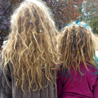our dreads at 1 and 2 months