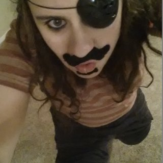 I was a Pirate for Halloween. 12/31/13