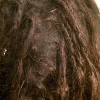 This was about 8-9 months of dreading and my root were completely mated and congoed. I just couldb;t take it. I a combed them out.