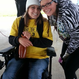 This was a 5k in Oct 2013 to raise funds for my good friend Erica so she could get a safe handicap accessible van for herself and her family. She Finally got her van last month!!