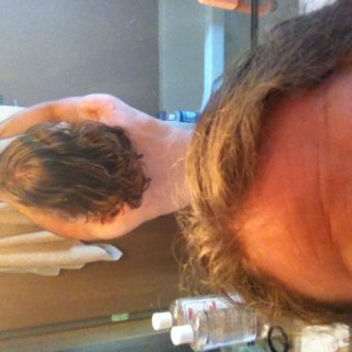 Before 1st shower of dread journey 6/9/14 Back side