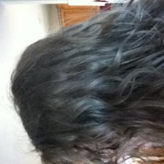 Hair dry after shower on 1st day Left side