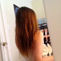 Day 1 of the natural dreading process - back view