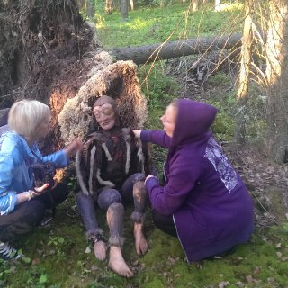 I made this troll for a graduation project this spring (2014). Me and my sister are pepering for a photosession in the woods.