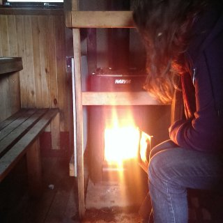 I Love making fires! This is for the sauna.