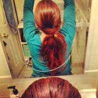 Dread wrapped ponytail