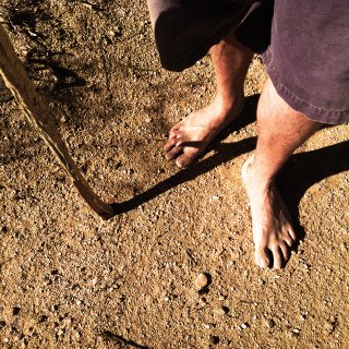 getting some dirt on my feet