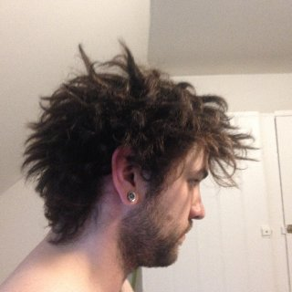 5 days into towel run method, side view.