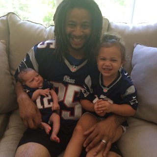Me, Eloise and Stella before a Pats game!!!