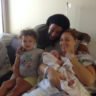 One of the happiest days of my life! When my second daughter Stella was born! Jah is Good!!!