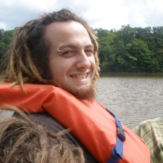 johns when we were paddleboating at mill creek. u can see top of gauges head too