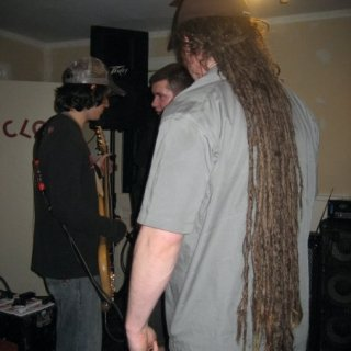 These are our friend's dreads, he had em for almost 10 yrs. now he is rocking the cue ball look