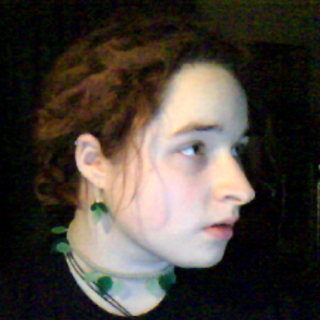 Dreads at 5 months, leaf jewelery handmade by me!