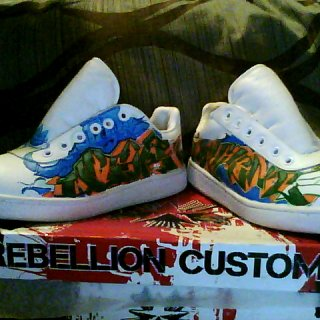 custom shoes- a custom pair i did at vibes last year for a homie, oliver and patience piece. they are expensive