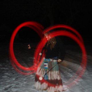 led poi on a warm winter night