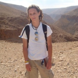 Early stages of my locks, was on an intense desert hike.