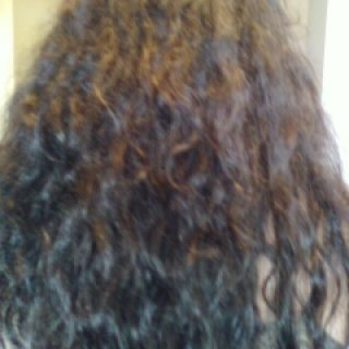 my hair at one week washed three times no brushing or conditioning.
