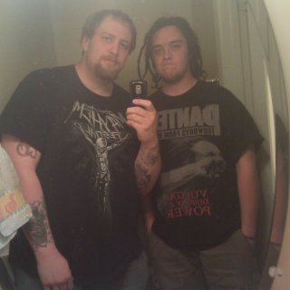Me and my vocalist take'n a gay bathroom pic for no good reason