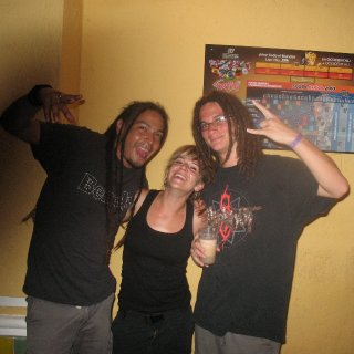 haha, this was a awesome couple I met from Spain, they both had dreadlocks for over 6years (Ana's are tied behind her in the picture but they were just as awesome)