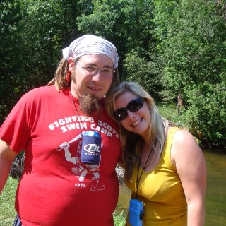 me and my friend abby at one of the many stops on our kyack trip in northern MI. cold waters!