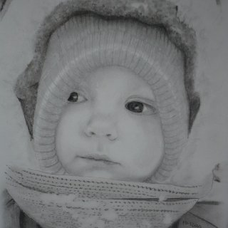 This is a drawing of my daughter that my sister in-law did.
