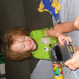 his first remote control car