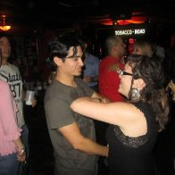 My husband and I dancing, you could see my dreads a bit better!