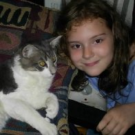 My daughter Faythe and Sheppy