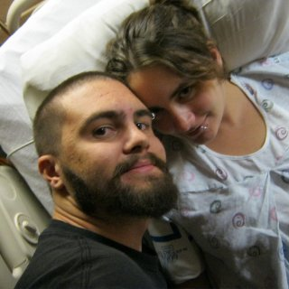 Ryan and I in labor at the hospital :)