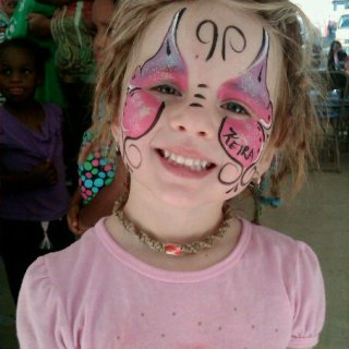 Baby girl got her face painted to be a butterfly! :)