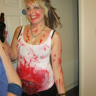 Gored up for halloween and my birthday. As you can see, i felt pretty happy.