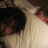 This is my friend Cole, I was laying on him :]