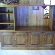 Entertainment center I constructed