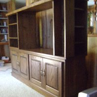 Side view of entertainment center
