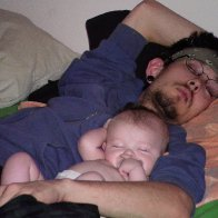 my husband and my daughter