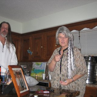 My mom, and my husband(well, technically, at the time of photo-boyfriend and partner-in-sin for ten years)