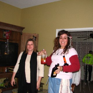 Tela and I starting the festivities, before the guests arrived