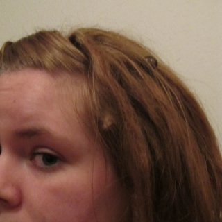 This is a decent picture of what I back combed