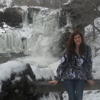 half of the waterfall was completly frozen and the other half was flowin on down! it was 50 degrees today!!!! amazing compared to the negative weather we've been havin over here in buffalo!!!
