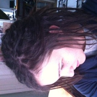 this is the morning after I finished twist & ripping my dreads - I had a friend help with sectioning the back, but I sectioned the rest & T & R'ed the whole thing myself.