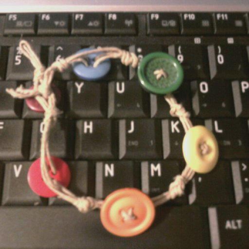 Rainbow Button Hemp Braclet