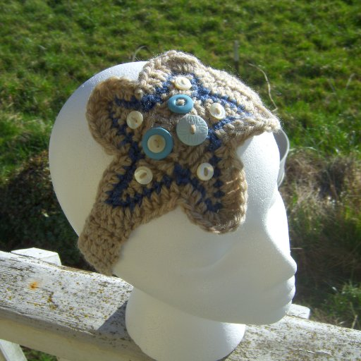 Star & Buttons Headband