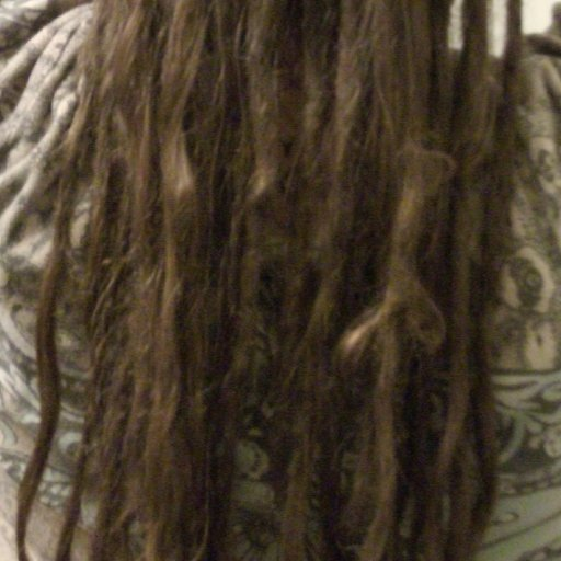 Closer look at the dreads underneath