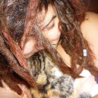 me and my baby kitten raja